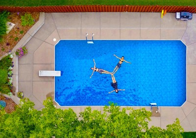 Trifecta Aerial Pool Girls
