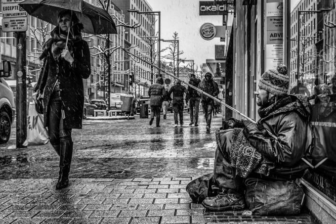 Luxembourg City street life, january 2018
