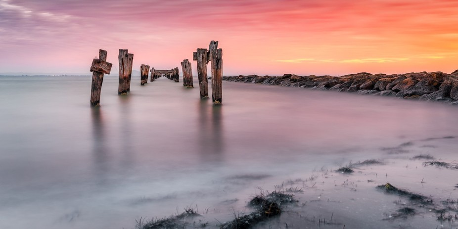 One of the old Piers in Clifton Springs, Victoria, Australia. This one is in an area known as The...