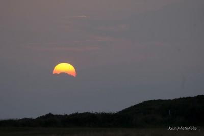 Sunset across Furness Golf Club, Walney