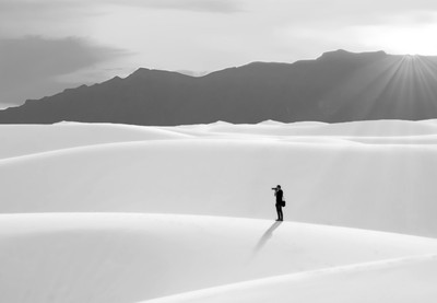 White Sands Photographer B&W