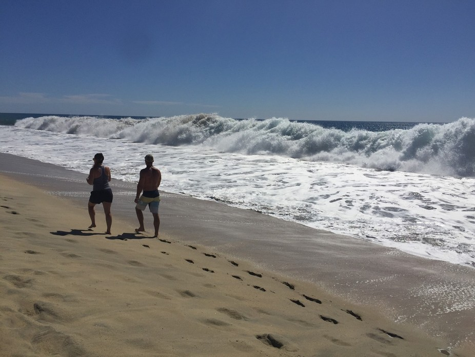 Just a walk on the beach, hearing the surf