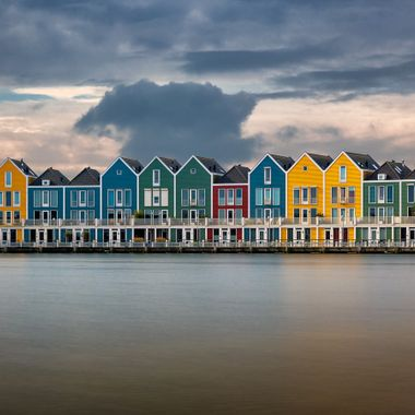 One of the famous rainbow houses places in dutch