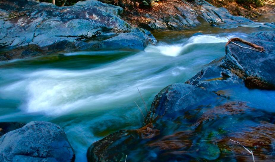 Exposed waterfall