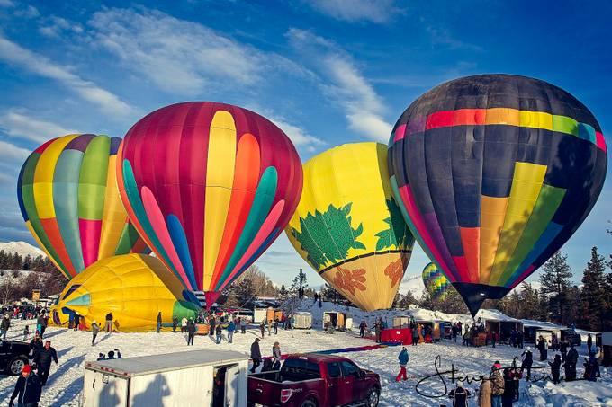 The first Balloons at the Washington Ballon Festival Winthrop WA