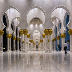 Corridor of the Sheikh Zayed Mosque in Abu Dhabi