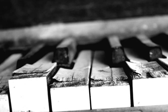 Piano keys upclose  by talyaculbertson - Abandoned Photo Contest