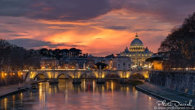 Vatican and Ponte Sant'Angelo from Ponte Umberto - Rome