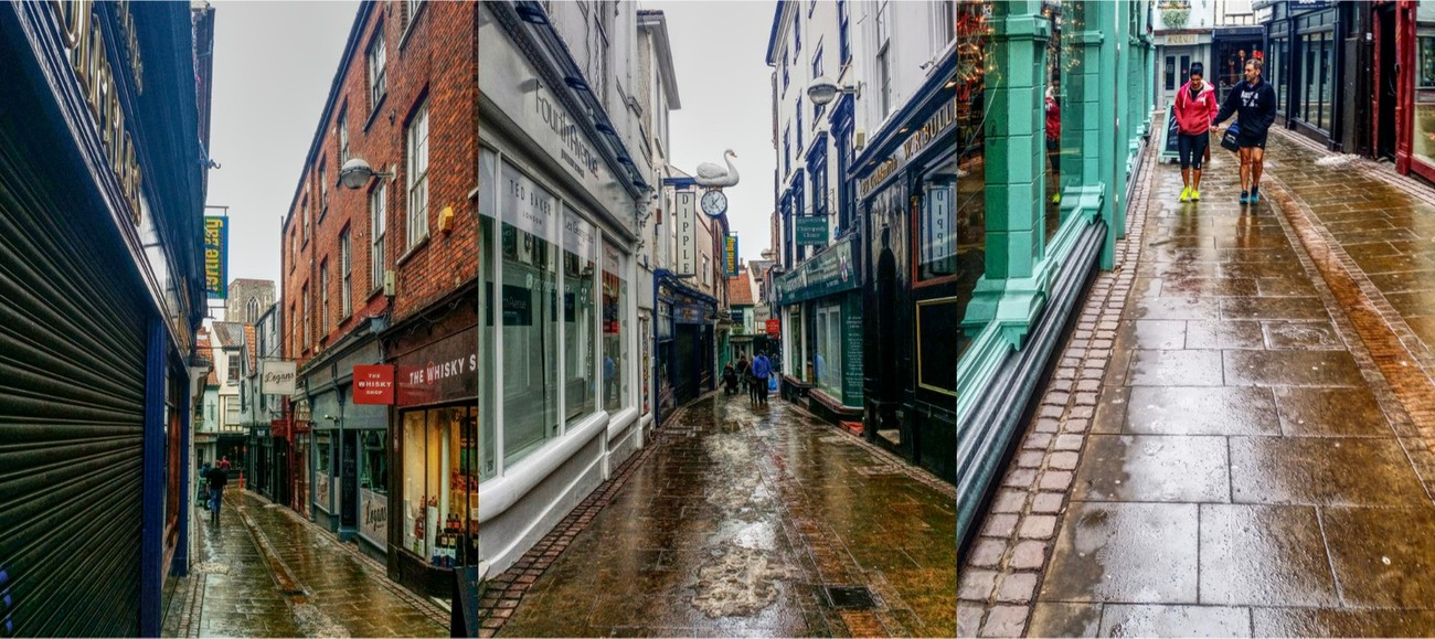 I tried to capture the colours & reflections on the cobbles in the rain...
