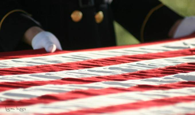 Before the Flag is Folded by cliffingram - Flags and Banners Photo Contest