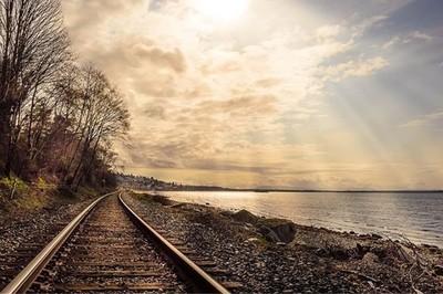 Loving all this sunshine ☀️ #sunnyday #sunrays #sunshine #beautiful #beautifulbc #instadaily #walkingthedog #traintracks #ocean #westcoast #nature #natureza #naturelovers #nature_perfection #natureaddict #freshair #getoutside #instagood #springishere #goo