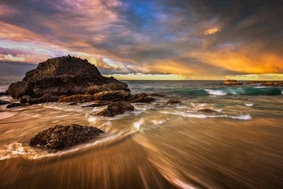 Stormy Sunrise - Long Exposure in Laguna Beach
