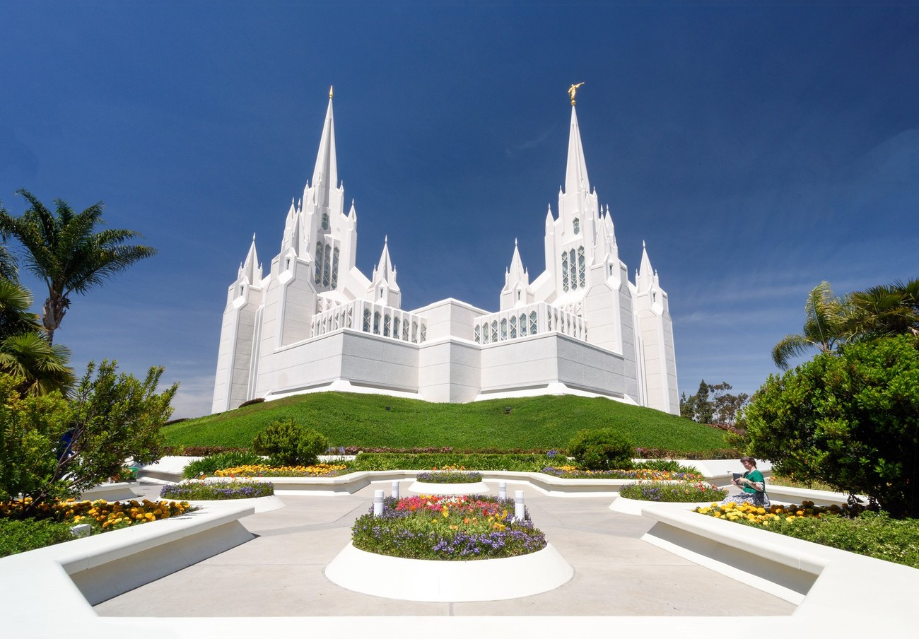 The LDS (Mormon) San Diego temple.