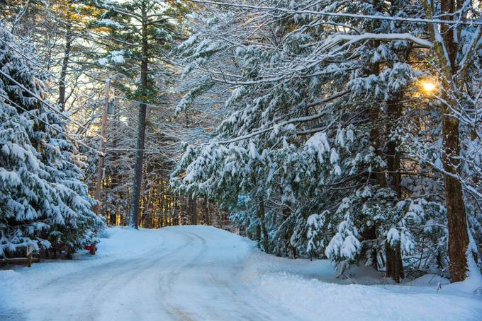Winter Blues and yellows by waterfrontagent - Winter Roads Photo Contest