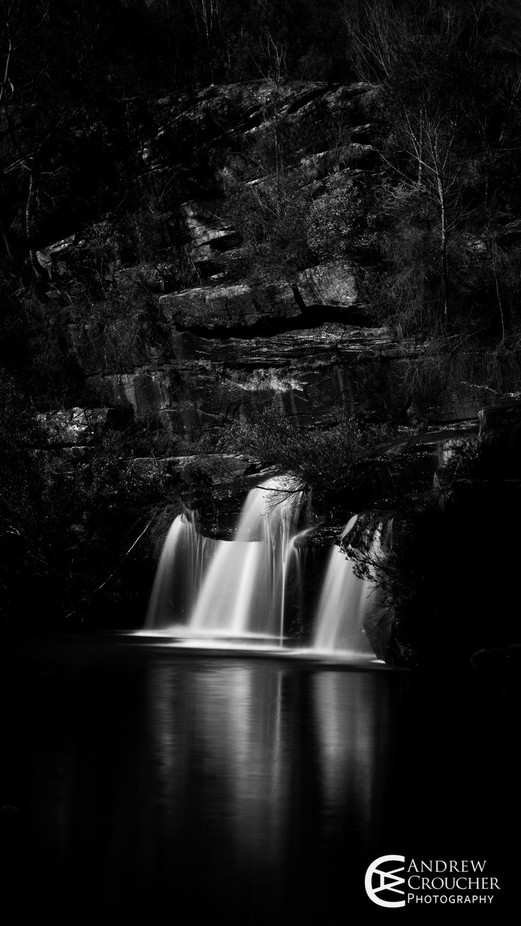Royal national park waterfall - Andrew Croucher Photography by andrewcroucher - Everything In Black And White Photo Contest