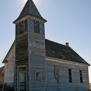 Old Church in Cottonwood South Dakota.