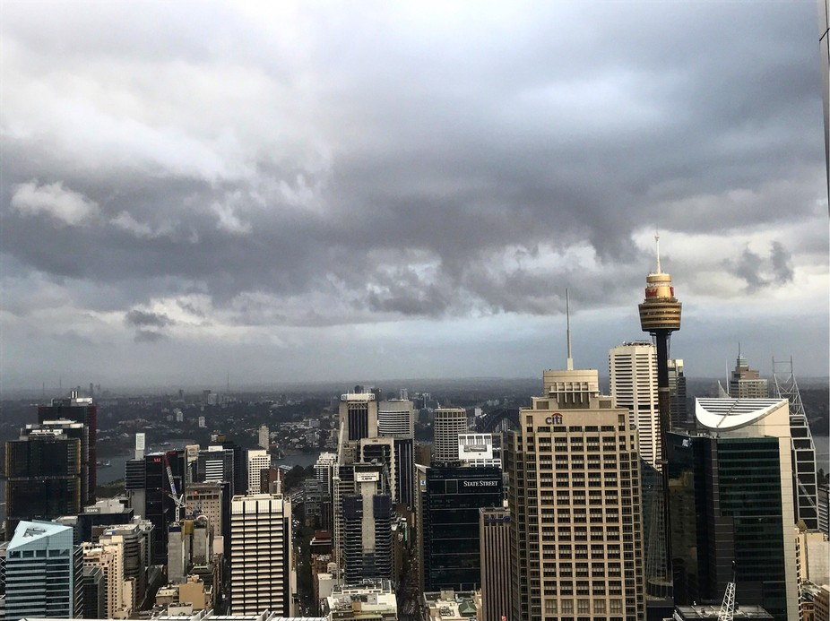 View from World tower Sydney- abseillers perspective