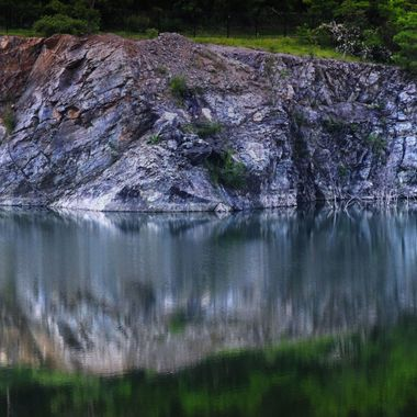 rock quarry reflection