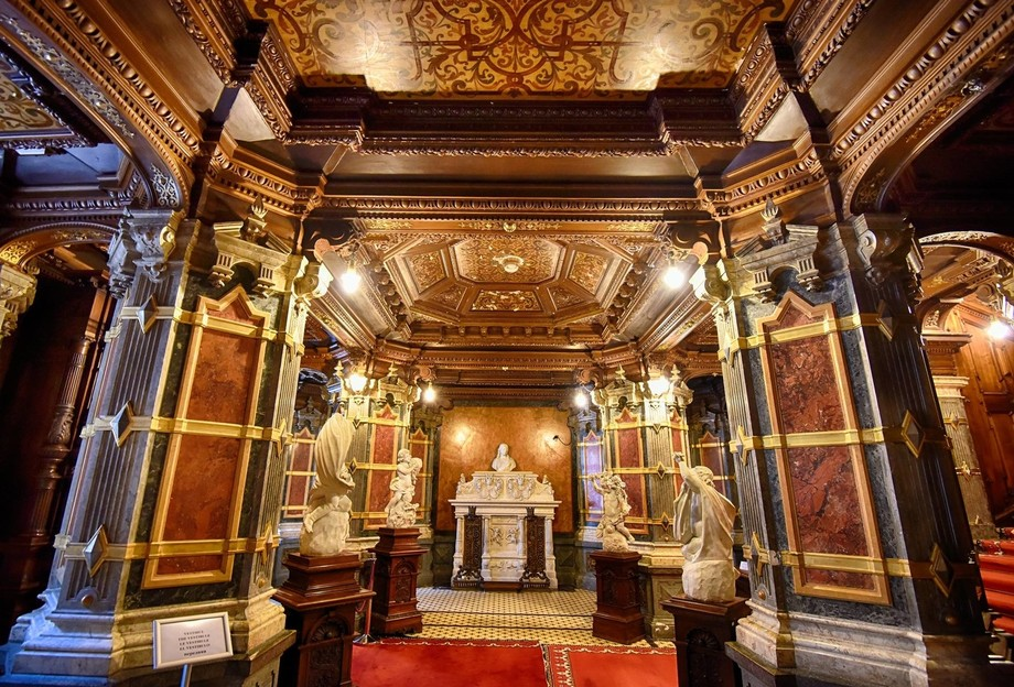 Entrance Foyer to Peles Castle