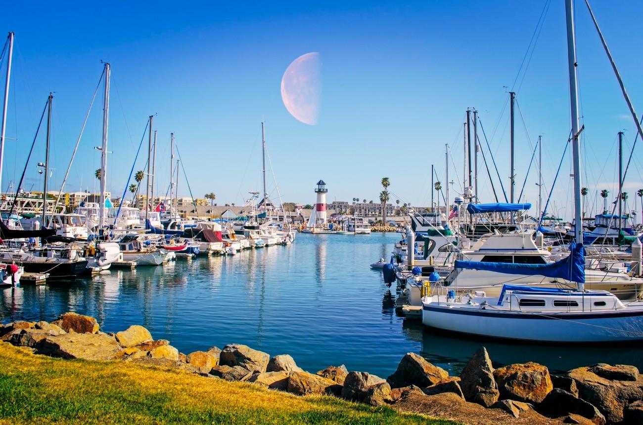 Oceanside harbor located in Oceanside, California.
