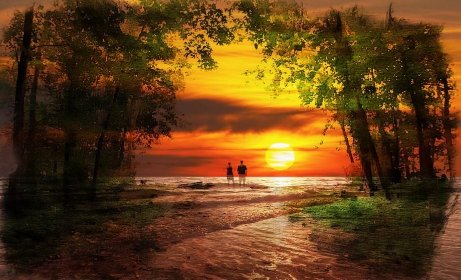 Sunlit Beach