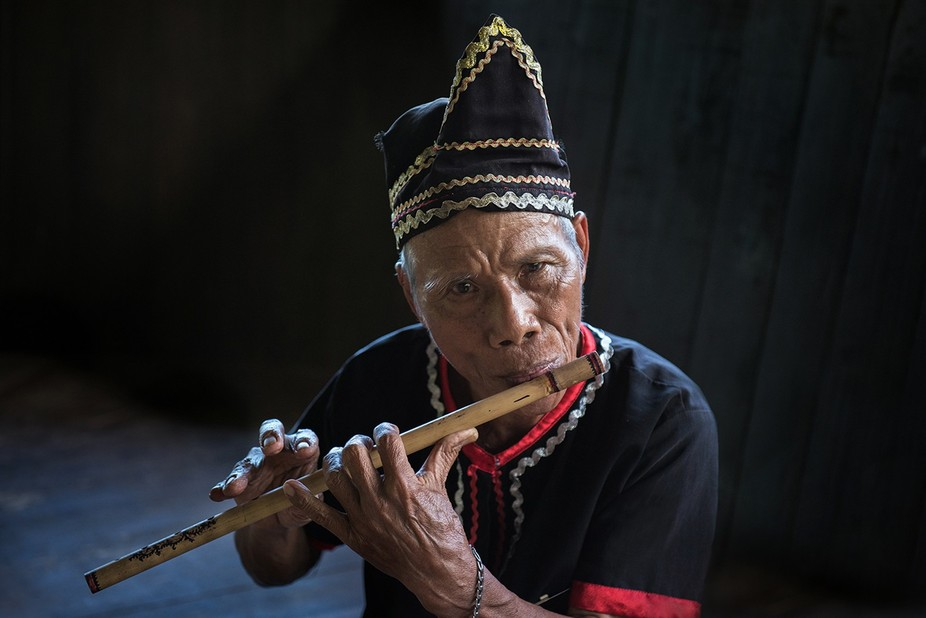I met this man at the Sarawak Cultural Village. He belongs to one of the indigenous Bidayuh tribl...