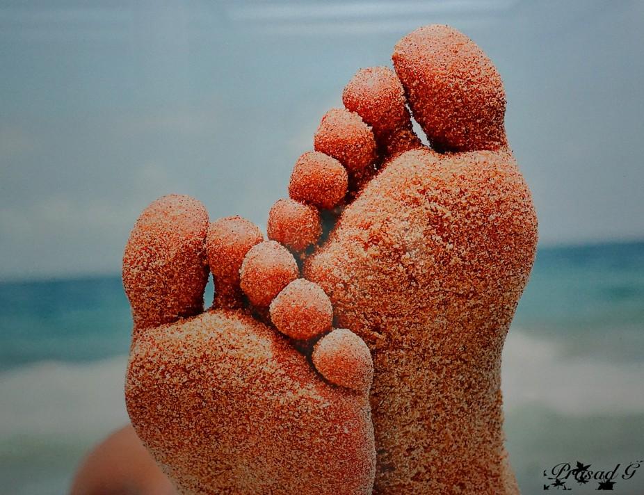 Nice foot print with sand