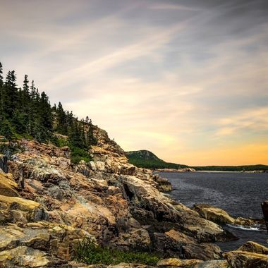 Part of Otter Cliffs in Acadia National Park