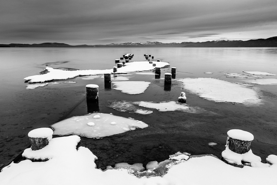 A pier lost and abandoned, however, never forgotten at Lake Tahoe.