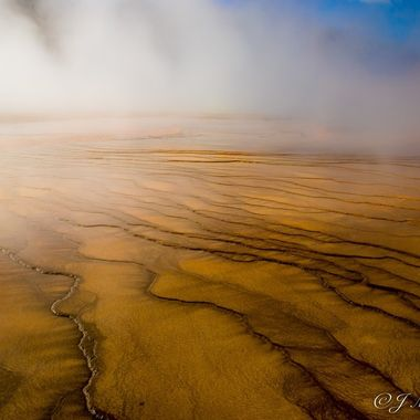 Mist From the Geyser Waters of Yellowstone 3