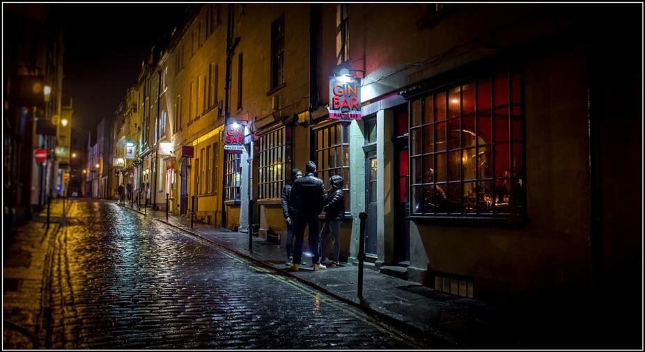 The sort of famous Gin Bar in Bath.. Shot on fuji X100