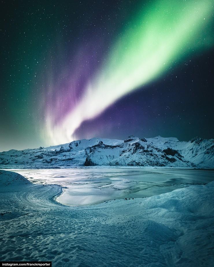 aurora borealis on jokulsarlon - iceland by franckreporter - Covers Photo Contest Vol 46