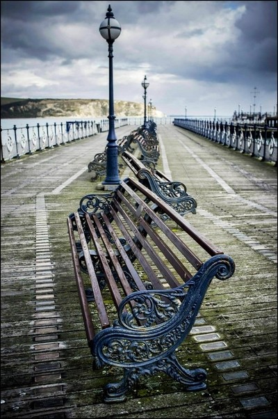 Swanage Pier in winter