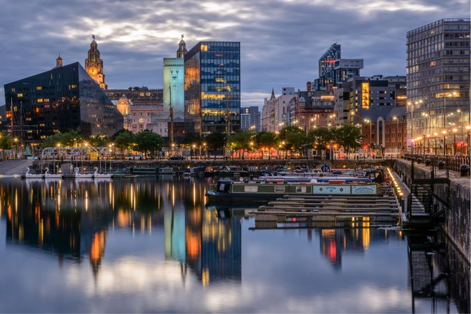 Blue hour reflections my city liverpool by johncheetham - My City Photo Contest