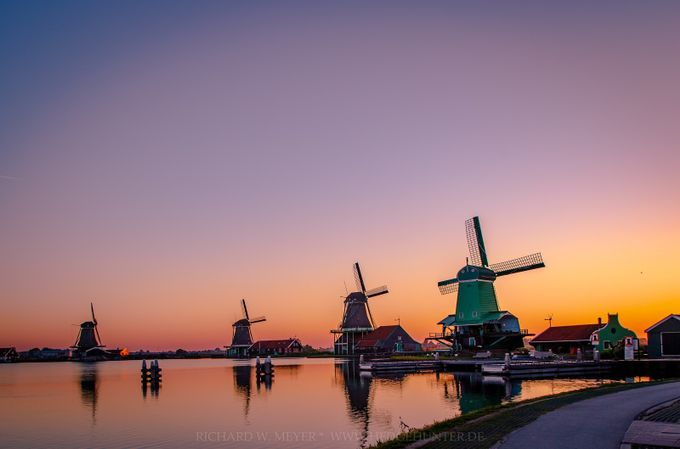 Zaanse Schans in the first morning light by hedgehunter - This Is Europe Photo Contest