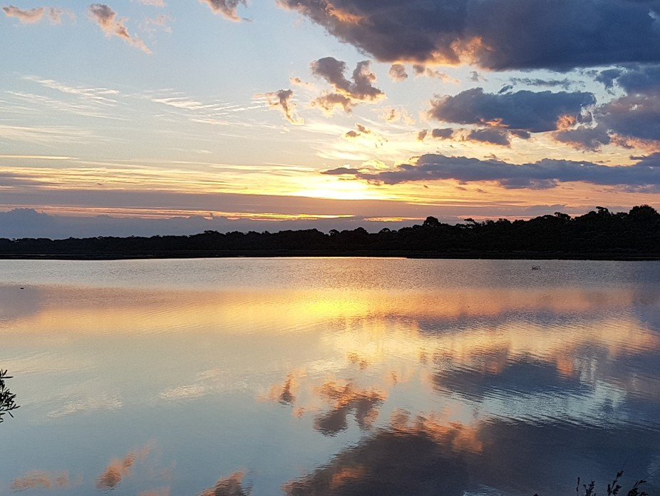 Mirror image over Lake Reeve, Victoria Australia