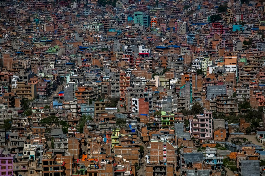 View from the Monkey Temple (Swayambhunath)  1 day prior to  the Nepalese earthquake that occurre...