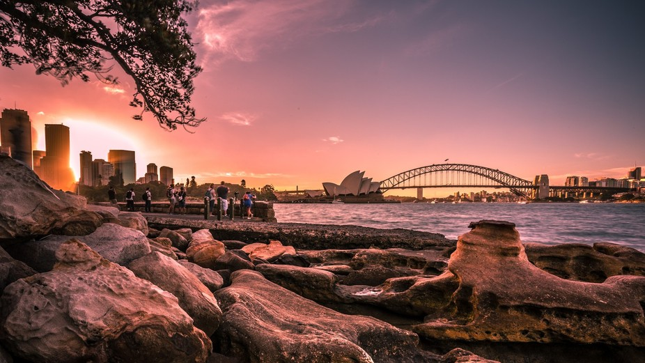 One of the best locations in Sydney to watch the sun go down..  Mrs Macquaries Chair is a photogr...