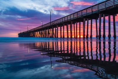 Cayucos Pier at sunset
