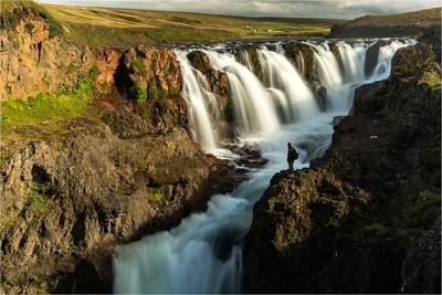 Meditating in Iceland