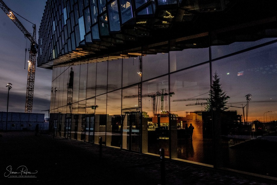 20171119-DSC_8423 Reflections at dusk (2) Harpa Concert Hall, Reykjavik
