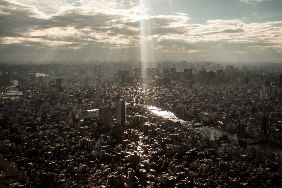 View from the Skytree Tower in Tokyo, Japan