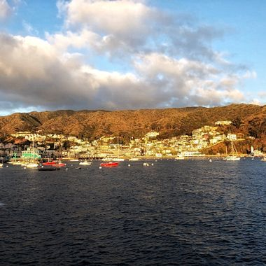 Early morning view of Avalon, the charming little town on Catalina Island, CA!