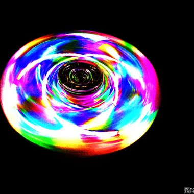 Fidget Spinner Long Exposure Glow