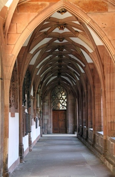 Basel Munster church arches, Basel, Switzerland