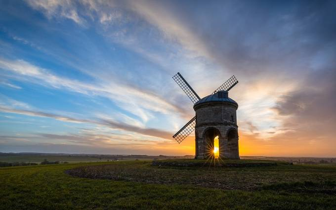 Windmill Sunrise by jaybirmingham - Windmills Photo Contest