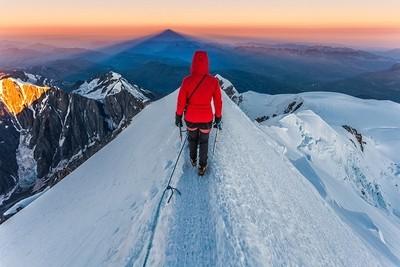 Trekking from Mont Blanc