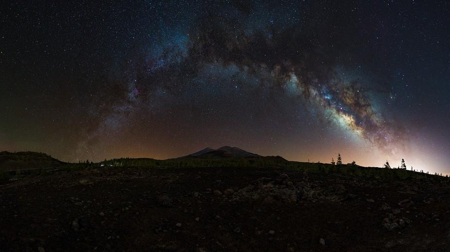Teide - Milky way over the vulcain