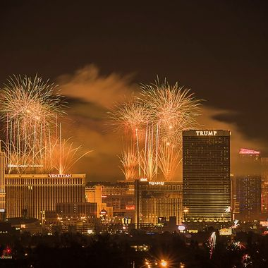 New Year Fireworks From The Strip