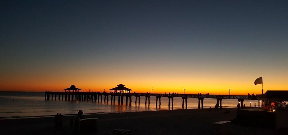 Sunset fort Meyers pier